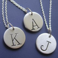 Custom Initial Necklace by sudlow on Etsy, $12.00