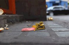 This trilogy of of short films created by a team at Rushes entitled 'Tiny Worlds' is an adorable possibility of  what could happen to our rubbish and reminds us that there is always someone whose job it is to pick up our litter.