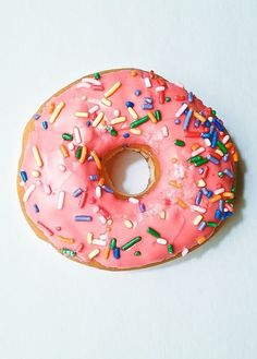 pink with sprinkles is our jam.