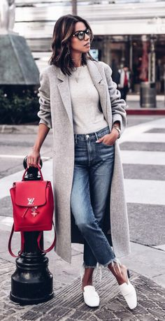 Grey Coat great for your completed modest look.