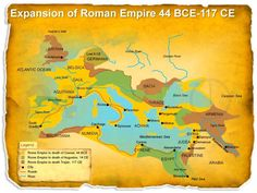 Check out this unique looking map that fetures the Expansion of Roman Empire - editable PowerPoint Slide!