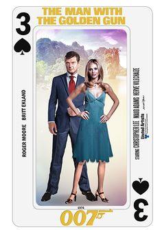 Bond Cards series collage by PMitchel #rogermoore #brittekland…