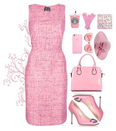 """Twinkle in Pink"" by paperdollsq ❤ liked on Polyvore featuring Irie Wash, Gucci, ZeroUV, Samsung, J.Crew and RED Valentino"