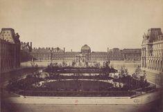 La place Louis-Napoléon et le palais des Tuileries. Paris 1er. 1859 ou 1860