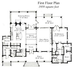Country Historic House Plan 73864