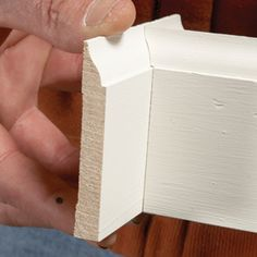 to Cope Baseboard Trim with a Miter Saw How to cope baseboards with a miter saw.Trim Trim may refer to: Popular Woodworking, Woodworking Jigs, Woodworking Furniture, Wood Furniture, Woodworking Basics, Woodworking Classes, Woodworking Techniques, Youtube Woodworking, Woodworking Machinery