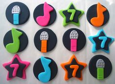 Edible Cupcake Decorations  Karaoke Party  by CakesAndKids on Etsy, $18.00