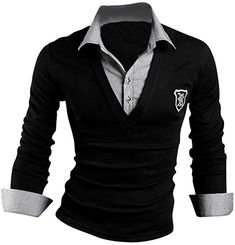 Jeansian Men's Slim Fit Long Sleeves Casual Shirts 7404 DarkGray S   Amazon.com