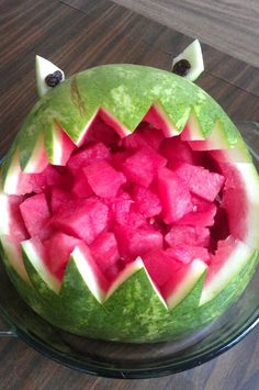 watermelon carving monster - chompy?