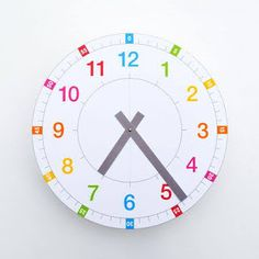 Learning Clock, Fun Learning, Teaching Time Clock, Tell The Time Clock, Math Clock, Clock Games, Clock Face Printable, Clock Template, Paper Clock