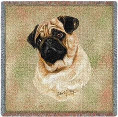 Pug Small Blanket.