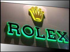 Borja: rótulo tienda Rolex
