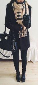 #winter #fashion / tartan scarf + noir