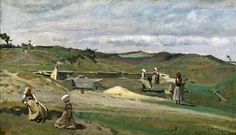 """Jean Baptiste Camille Corot """" Wall. Côtes du Nord. Brittany """""""
