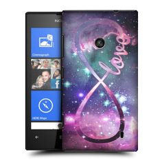 HEAD CASE LOVE INFINITY COLLECTION SNAP-ON BACK CASE COVER FOR NOKIA LUMIA 520