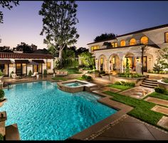 Luxury Pool and Outdoor Living Area Swimming Pool Tiles, Luxury Swimming Pools, Luxury Pools, Swimming Pool Designs, Blue Haven Pools, Outdoor Areas, Outdoor Pool, Jacuzzi, Moderne Pools