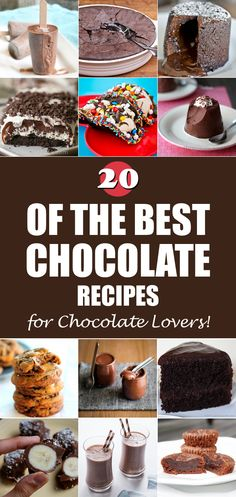 20 Of The Best Chocolate Recipes for Chocolate Lovers!