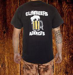 CLIMBEERS T-SHIRT H €12.50 Mens Tops, T Shirt, Fashion, Bouldering, Sleeves, T Shirts, Men, Supreme T Shirt, Moda