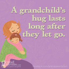 A Granchild's hug lasts long after they let go! ♥ Our Grandson gave us kisses for the first time when we tucked him in this evening. Our hearts are bursting. We are SO blessed! ♥♥