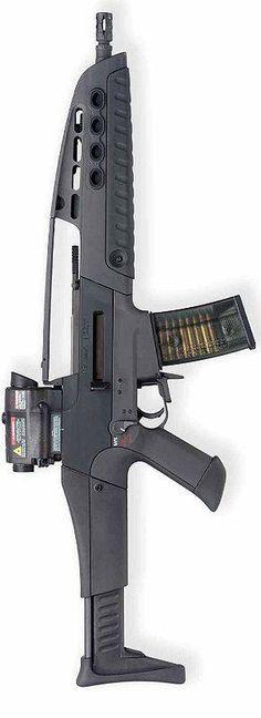 HK is a very nice self-defense rifle. Military Weapons, Weapons Guns, Guns And Ammo, Big Guns, Cool Guns, Fire Powers, Assault Rifle, Arsenal, Revolver