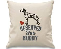 reserved for dalmation Dog Breeds, Cushions, Trending Outfits, Gifts, Etsy, Design, Throw Pillows, Toss Pillows, Presents