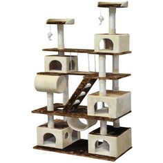 """I NEED THIS!!! & looks very sturdy with such a wide base! - *A                                    <strong>Go Pet Club</strong> 88"""" Cat Tree Condo House"""