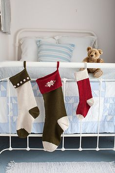 Ravelry: Basic Christmas Stockings pattern by Churchmouse Yarns and Teas