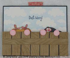 Paper Punch Addiction: Slider Kids  directions splitcoaststampers Double slider card