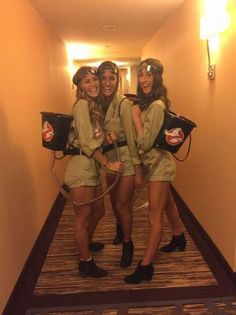 Ghost busters Halloween costume Source by Related posts: College costume Halloween girl Girl Scout diy 50 Best Group Halloween Costume Ideas To Wear To This Year's Halloween Party Girl Group Halloween Costumes, Trio Costumes, Cute Group Halloween Costumes, Cute Costumes, Women Halloween, Bff Costume Ideas, Halloween Couples, Costumes Kids, Woman Costumes
