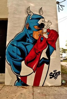 Capitain America  https://www.facebook.com/pages/Art-of-street/144938735644793?ref=ts=ts