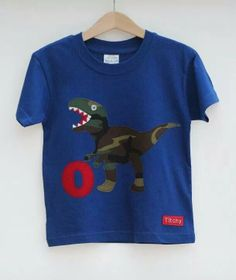 Personalised children's Dinosaur T shirt by Titchy.net