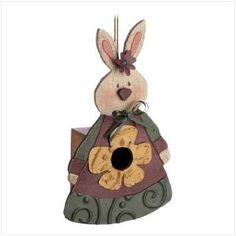 Country Bunny Birdhouse easter
