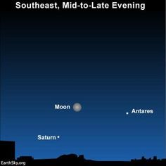 And it's near the moon in Friday night's sky. How to spot this planet and the nearby bright star Antares, in the constellation Scorpius.