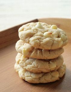 Caramel Apple Cheesecake Cookies...this uses Pillsbury Caramel Apple Cake Mix, Instant Cheesecake Pudding Mix, and White Chocolate chips. (plus vegetable oil and eggs)