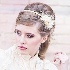 vintage wedding pearl headband