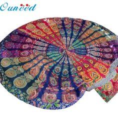 JA 5 Mosunx Business Hot Selling Fast Shipping Round Hippie Tapestry Beach Throw Roundie Mandala Towel Yoga Mat Bohemian #Affiliate