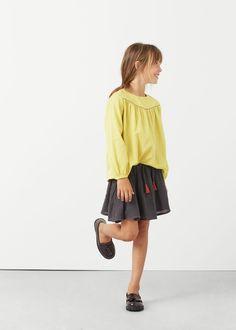 Textured cotton shirt | MANGO KIDS