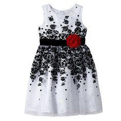 Youngland Girls 4-6x Floral Velvet Dress