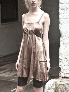 casual silk dress