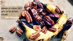 Emily von Euw's 'rawsome vegan baking' - Banana Ice-Cream Tarts with Salted Nutmeg Caramel + a giveaway!!