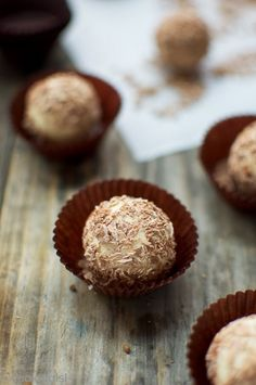 Homemade Tiramisu Truffles - very simple to make with irresistible coffee flavor and creamy texture. Tossed in shredded milk chocolate.