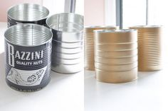DIY - Metallic Tin Cans using Krylon's Metallic Spray Paint - Tutorial