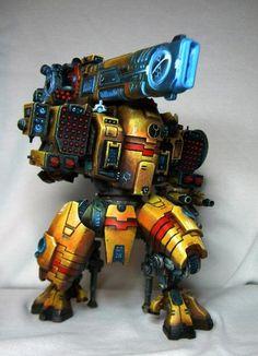 The first member of the diorama devoted Tau Empire - test paint. Figurine Warhammer, Warhammer Figures, Warhammer Models, Warhammer Paint, Warhammer 40k Art, Warhammer 40k Miniatures, Tau Battlesuit, Tau Army, Miniaturas Warhammer 40k