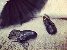 Black tutú and sparkle #clementineconcept shoes