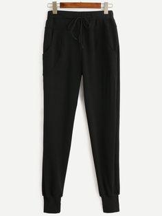 Pants by BORNTOWEAR. Drawstring Waist Pants
