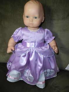 Sofia the First for Bitty Baby Doll Clothes by BarbarasClassics