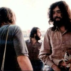 Jimmy Page (right) and LZ tour manager Richard Cole (middle in back)