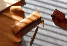 Cow Leather Pencil Case [ 6 Colors ] / Cowhide Pencase / Pouch / 101661738 by DubuDumo on Etsy