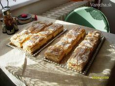 Krémeš (fotorecept) - recept   Varecha.sk Banana Bread, French Toast, Breakfast, Desserts, Food, Basket, Morning Coffee, Tailgate Desserts, Deserts