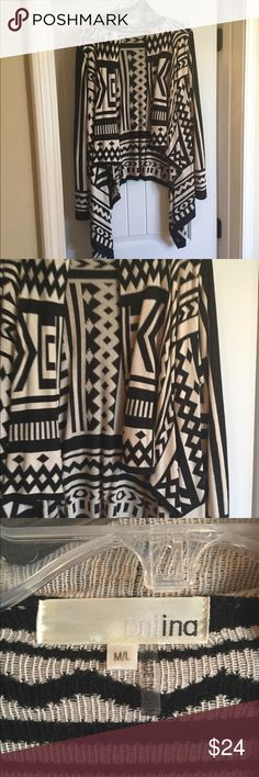 Black/cream cardigan M/L Black/cream cardigan size M/L Sweaters Cardigans